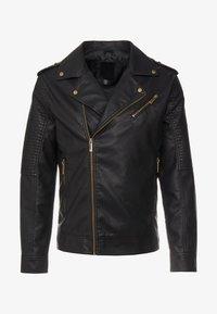 Only & Sons - ONSROVER BIKER - Faux leather jacket - black - 3