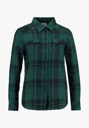 WESTERN CHECK - Button-down blouse - pine