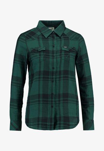 REGULAR WESTERN - Button-down blouse - pine