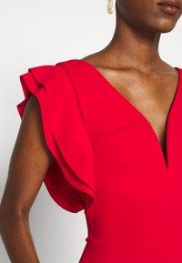 WAL G TALL - V NECK FRILL SLEEVE FIT FLARE DRESS - Žerzejové šaty - red - 5