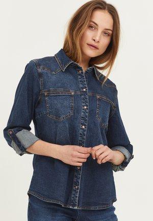 PZJOSIE  - Button-down blouse - dark blue denim