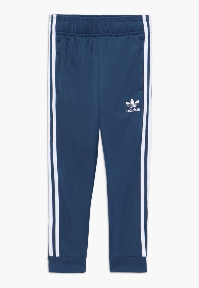 adidas Originals - SUPERSTAR PANTS - Tracksuit bottoms - marin/white