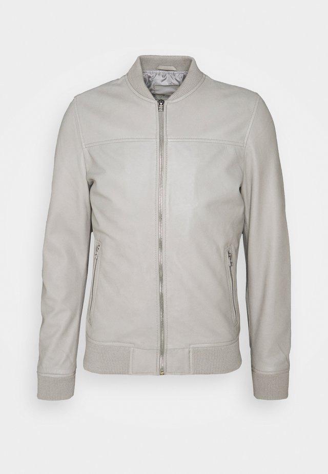 BOCHUM - Leather jacket - grey