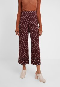 Marella - VALIKA - Trousers - bordeaux - 0