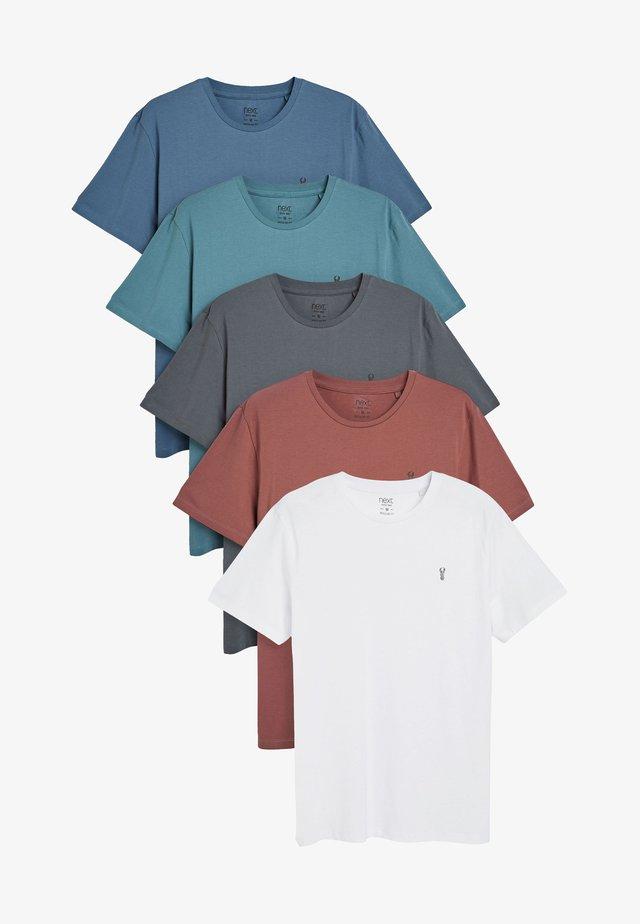CREW NECK REGULAR FIT STAG 5 PACK - Basic T-shirt - multi-coloured