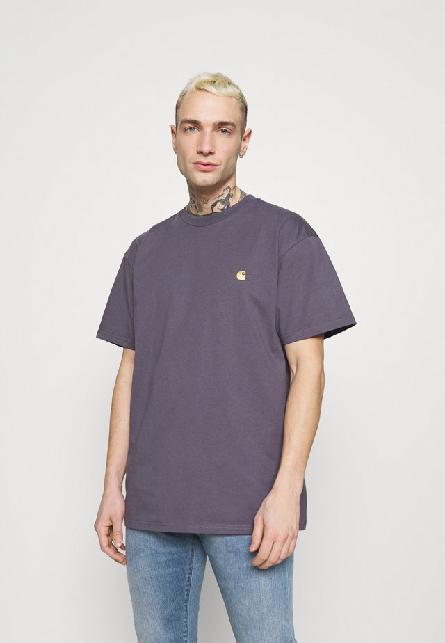 CHASE  - T-shirt basique - provence/gold