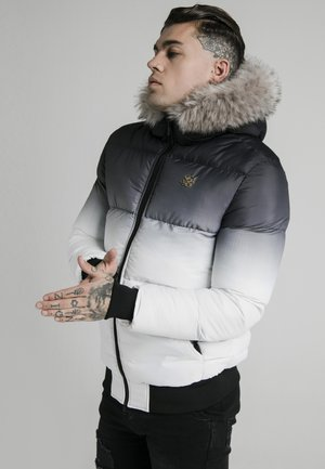 DISTANCE JACKET - Winterjas - black/white