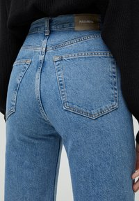 PULL&BEAR - HIGH WAIST - Straight leg -farkut - blue - 5