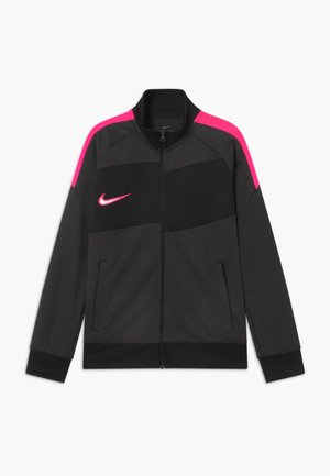 DRY ACADEMY  - Sportovní bunda - dark smoke grey/hyper pink
