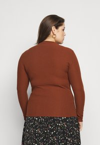 ONLY Carmakoma - CARALLY HIGH NECK - Long sleeved top - cherry mahogany - 2