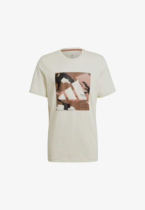 CAMO BOS TEE M - Print T-shirt - white