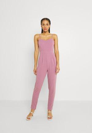 DAISY STRAIGHT LEG JUMPSUIT - Overal - mauve pink