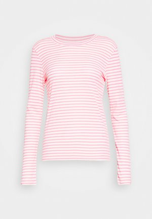 LONGSLEEVE SLIM FIT STRIPE - Long sleeved top - light grey/pink