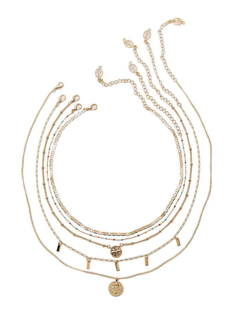 Stradivarius - 5ER-SET - Necklace - gold