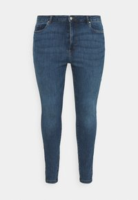 Vero Moda Curve - VMLOA RAW - Jeans Skinny Fit - medium blue denim - 3