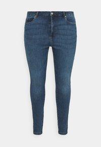 Vero Moda Curve - VMLOA RAW - Jeansy Skinny Fit - medium blue denim - 3