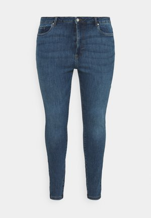 VMLOA RAW - Skinny džíny - medium blue denim