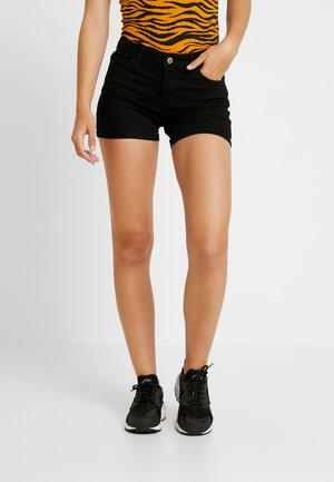 ONLCARMEN - Denim shorts - black denim