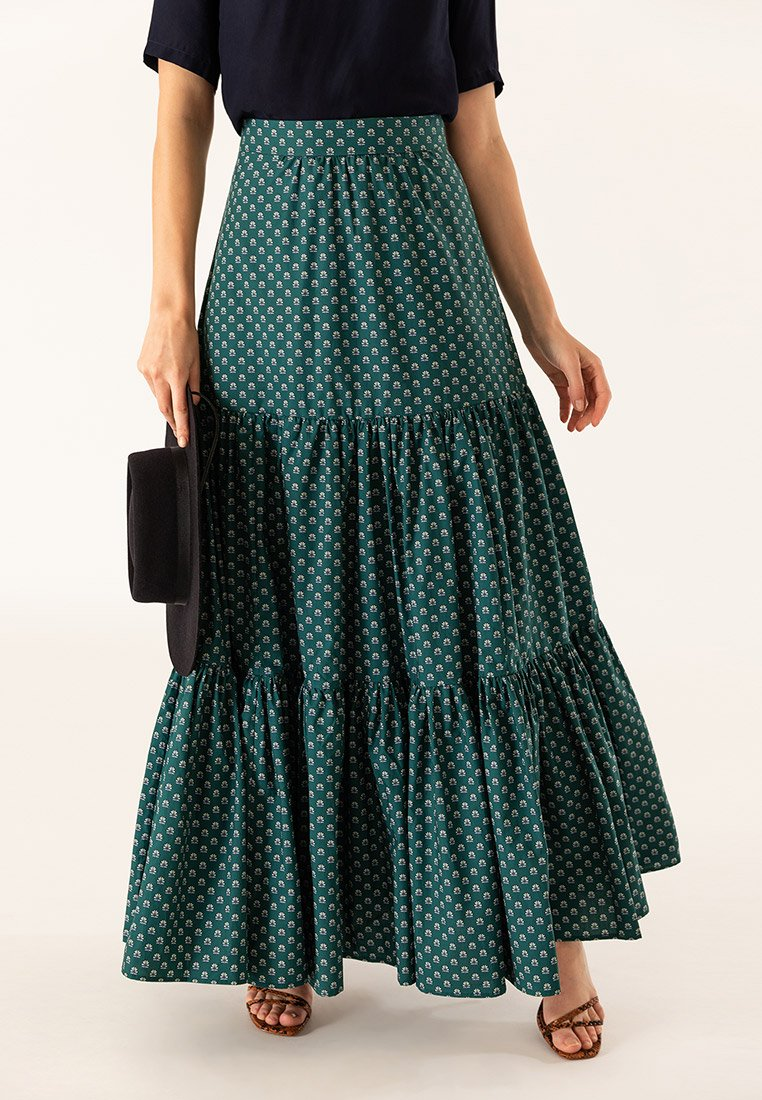 IVY & OAK - Maxi skirt - green