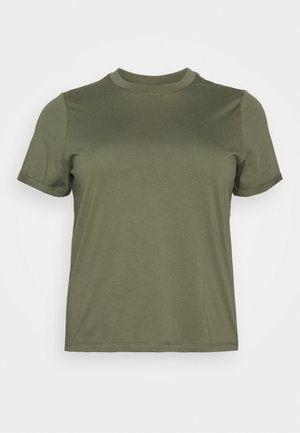 PCRIA FOLD UP SOLID TEE - Basic T-shirt - deep lichen green