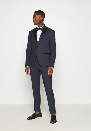 TEXTURED TUX - Kostym - dark blue