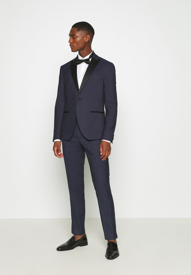 TEXTURED TUX - Traje - dark blue