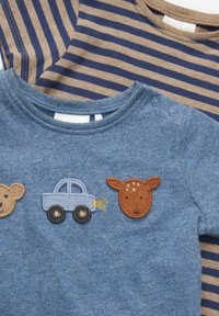 Next - 2 PACK  - T-shirt con stampa - blue - 4