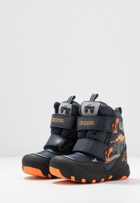 Kappa - BIG WHEEL TEX - Winter boots - navy/orange - 2