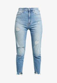 Calvin Klein Jeans - HIGH RISE SLIM ANKLE - Džíny Slim Fit - honcho blue - 3