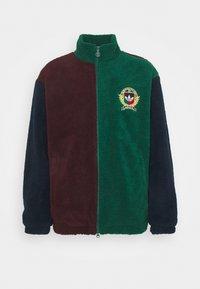 COLLEGIATE CREST TEDDY TRACK JACKET - Light jacket - green/maroon/conavy