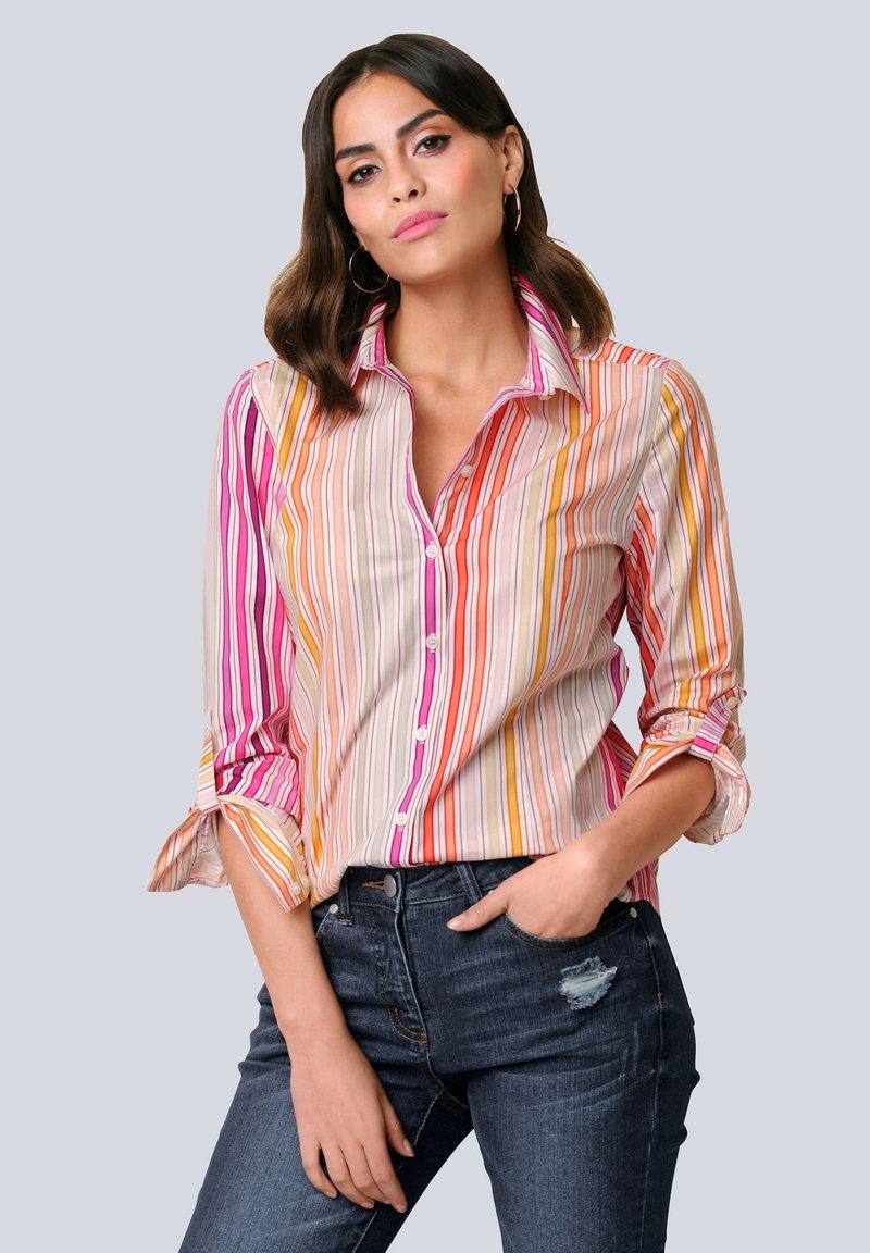 Alba Moda - Button-down blouse - orange/pink/sand
