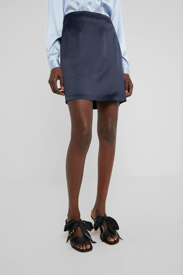 HALEN FLUID - Mini skirt - navy