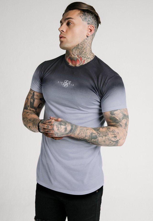 HIGHFADE BOX TEE - T-shirt imprimé - black/white