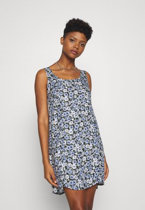 SCOOP NECK MINI - Korte jurk - blue