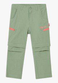 TrollKids - KIDS KJERAG ZIP OFF PANTS - Trousers - olive/coral - 0