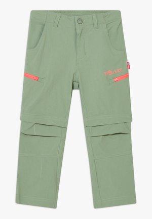KIDS KJERAG ZIP OFF PANTS - Trousers - olive/coral