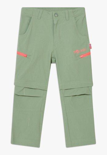 KJERAG ZIP OFF  2-IN-1 UNISEX - Outdoor trousers - olive/coral