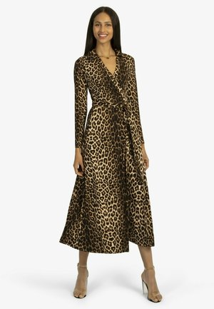 Jersey dress - braun/schwarz
