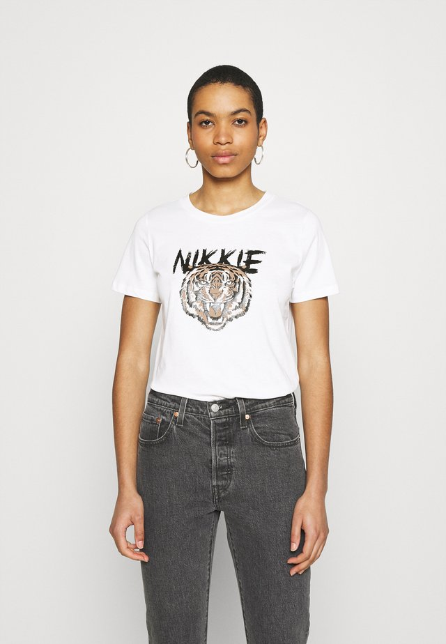 TIGER - T-shirt con stampa - star white