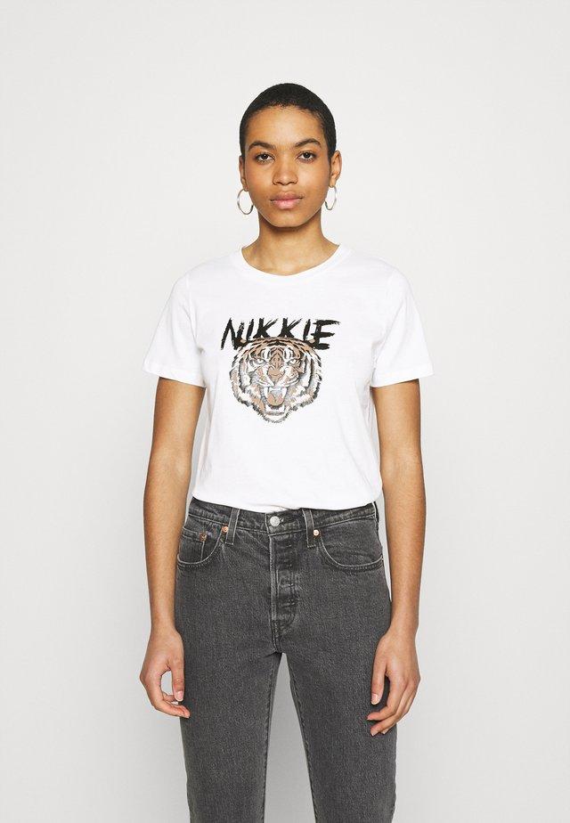 TIGER - T-shirts med print - star white