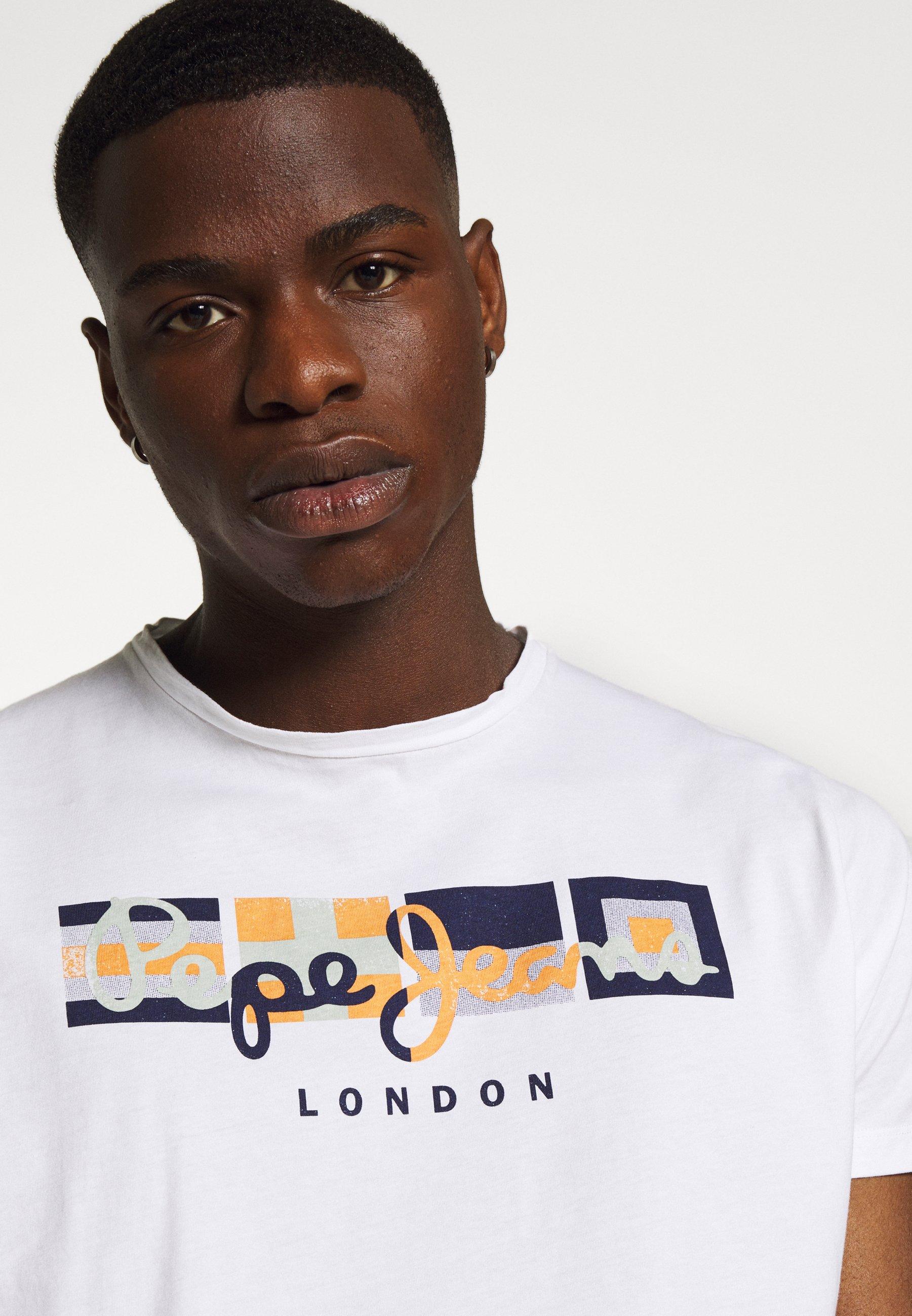 Pepe Jeans DEAN - Print T-shirt - white 4xiC3