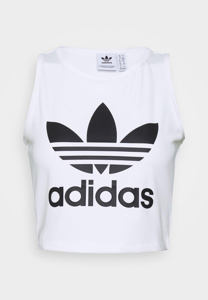 adidas Originals - CROPPED TANK - Toppe - white