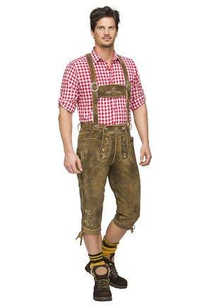 JUSTIN  - Pantaloni di pelle - havanna