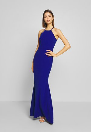 SCALLOP EDGE DRESS - Abito da sera - electric blue