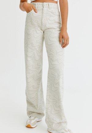 Jeans straight leg - mottled beige