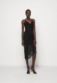 Hervé Léger - CAMISOLE DRAPED DRESS - Sukienka koktajlowa - black - 0