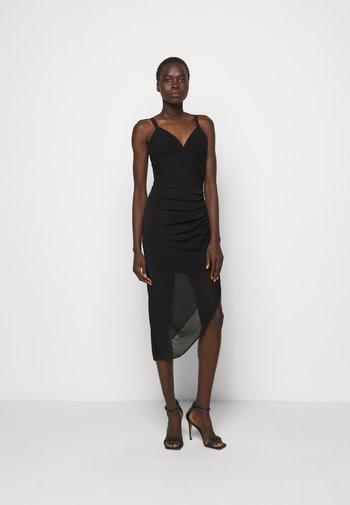CAMISOLE DRAPED DRESS - Koktejlové šaty/ šaty na párty - black