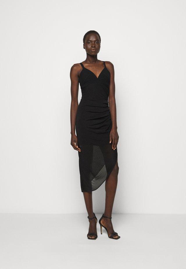 CAMISOLE DRAPED DRESS - Cocktailkjoler / festkjoler - black