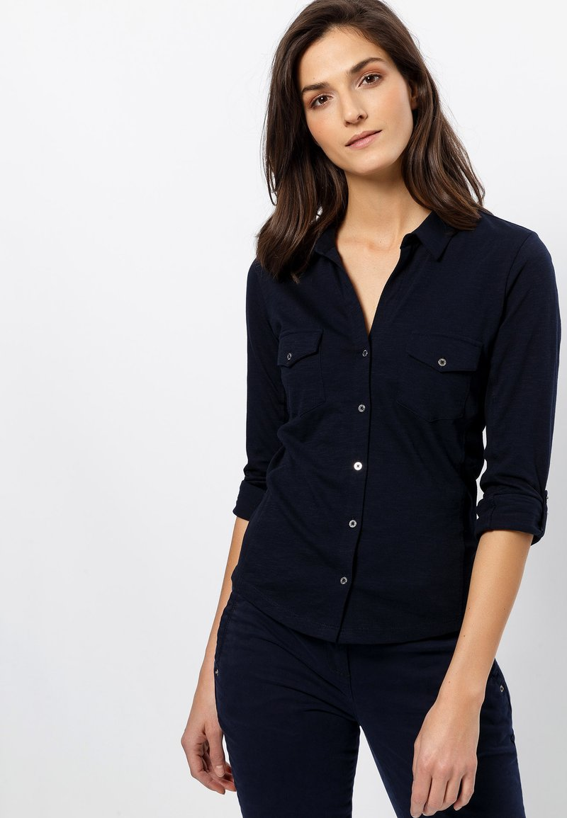 zero - Button-down blouse - dark blue