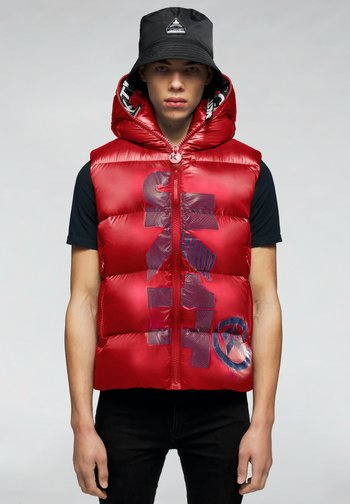 PRIME SLICK - Waistcoat - cherry red/navy